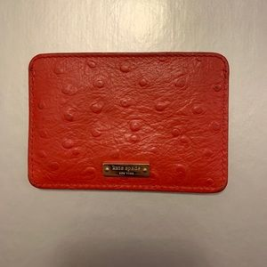 Kate Spade Crocodile Card Holder